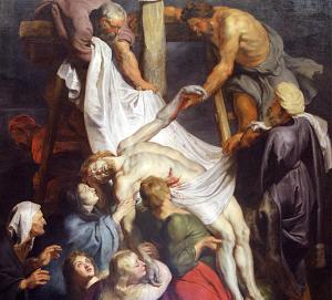 Jesús tekinn af krossinum, eftir Rúbens