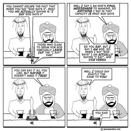 Jesús og Mó í góðu flippi