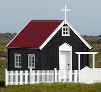 Kirkjan í Papey er minnsta kirkja landsins