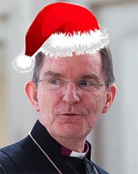 biskup með jólahófu