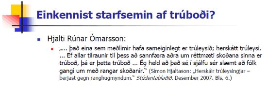 Trúboð Hjalta?