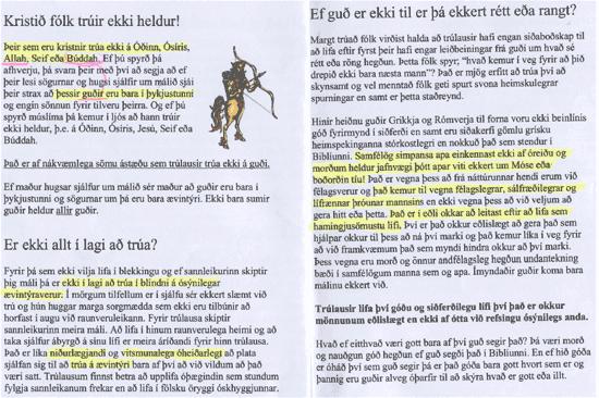 Fjórða mynd af bæklingi