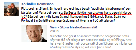 Skjáskot af Facebook síðu séra Þórhalls Heimissonar