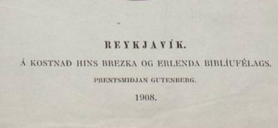 Mynd af síðu úr Heiðnu Biblíunni