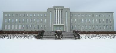 Mynd aðalbyggingu Háskóla Íslands