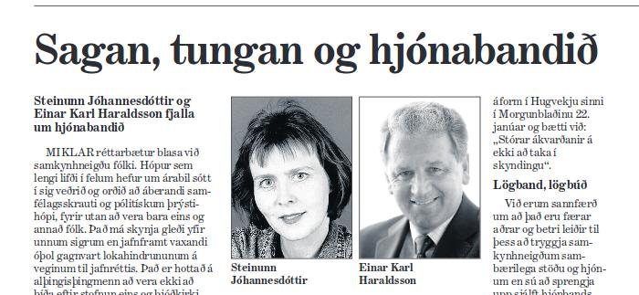 Mynd af Einari Karli og kerlingu