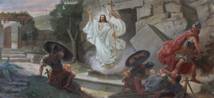 Mynd af upprisu Jesú