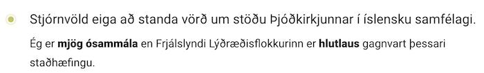 Svar Frjálslynda lýðræðisflokksins